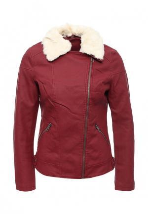 Куртка кожаная Adrixx JACKET. Цвет: бордовый