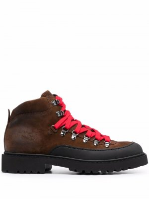 Doucals chunky lace-up leather boots Doucal's. Цвет: коричневый