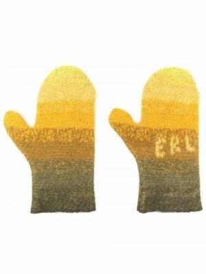 Перчатки с эффектом градиента ERL. Цвет: желтый