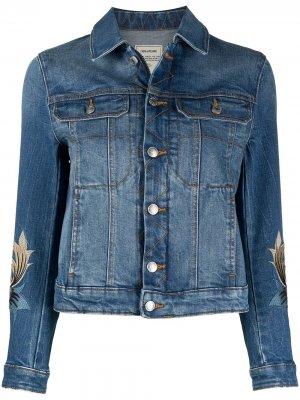 Джинсовая куртка Kioka с вышивкой Zadig&Voltaire. Цвет: синий
