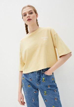 Футболка Pepe Jeans. Цвет: желтый