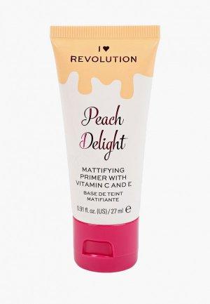 Праймер для лица I Heart Revolution Peach Delight Mattifying Primer With Vitamin C And E, 27 мл.. Цвет: прозрачный