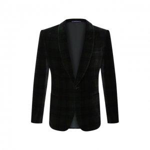 Хлопковый пиджак Ralph Lauren. Цвет: разноцветный