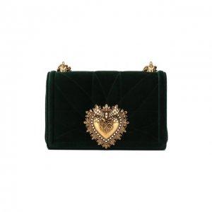 Сумка Devotion small Dolce & Gabbana. Цвет: зелёный