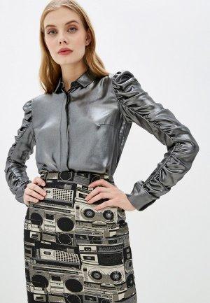 Блуза Akris Punto. Цвет: серебряный