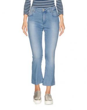 Джинсовые брюки-капри SPACE SIMONA CORSELLINI. Цвет: синий