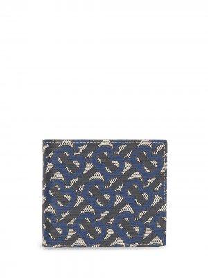 Бумажник с монограммой Burberry. Цвет: синий