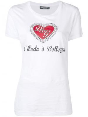 Футболка Moda è Bellezza Dolce & Gabbana. Цвет: белый