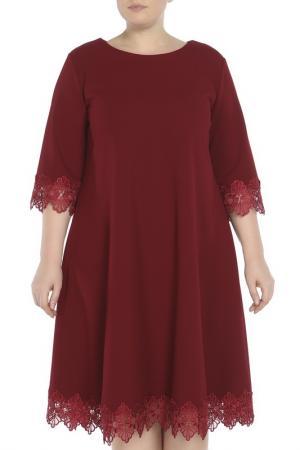 Платье Glamour. Цвет: бордовый