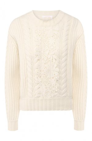 Шерстяной пуловер See by Chloé. Цвет: белый