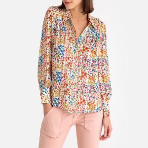 Рубашка с принтом RIVE BA&SH. Цвет: наб. рисунок синий