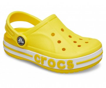 Сабо детские CROCS Kids Bayaband Clogs Lemon арт. 205100. Цвет: lemon