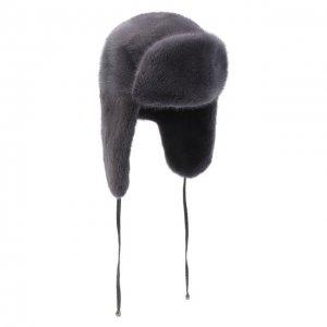 Норковая шапка-ушанка Kussenkovv. Цвет: серый