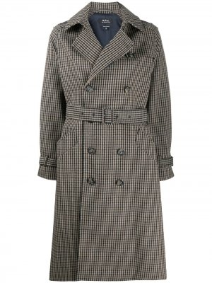 Double-breasted coat A.P.C.. Цвет: нейтральные цвета