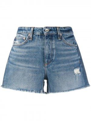 Джинсовые шорты средней посадки Rag & Bone. Цвет: синий