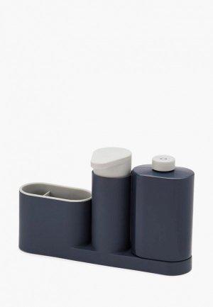 Подставка для кухонных инструментов Joseph SinkBase Plus. Цвет: серый