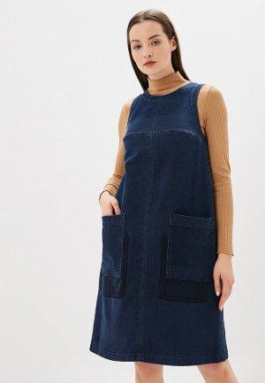 Платье джинсовое Helmidge. Цвет: синий