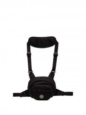 Crossbody harness bag Stone Island. Цвет: черный
