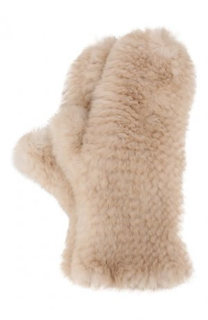 Варежки из меха норки Kussenkovv. Цвет: бежевый
