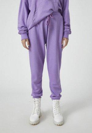 Брюки спортивные Pull&Bear. Цвет: фиолетовый