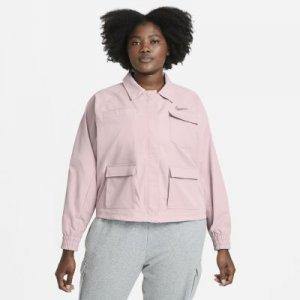 Женская куртка Nike Sportswear Swoosh (большие размеры) - Розовый