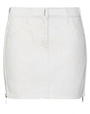Джинсовая юбка GIVENCHY. Цвет: белый