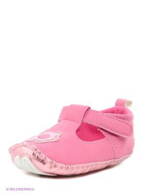Ботиночки Luvable Friends. Цвет: розовый