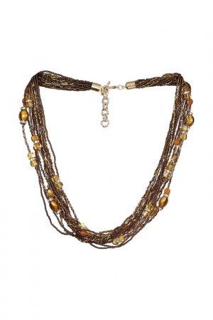 Ожерелье ZECCHIN VENICE. Цвет: коричневый