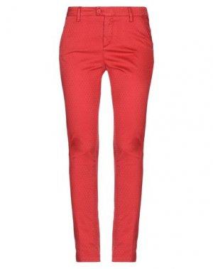 Повседневные брюки MICHAEL COAL. Цвет: красный