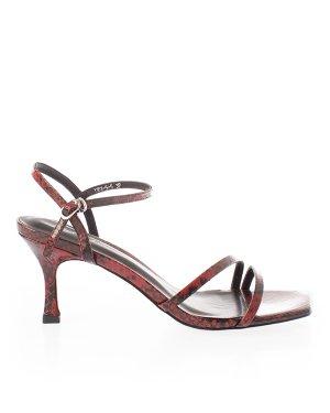 Босоножки Y101-5 37 красный+принт Just Couture. Цвет: красный+принт