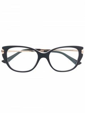 Очки B zero 1 в оправе кошачий глаз Bvlgari. Цвет: черный