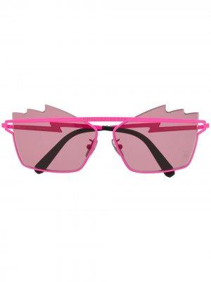Солнцезащитные очки с логотипом Philipp Plein. Цвет: розовый