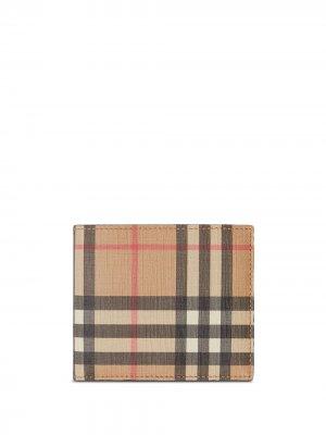 Бумажник в клетку Vintage Check Burberry. Цвет: коричневый