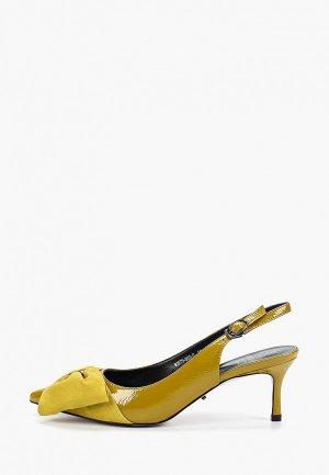 Босоножки Graciana. Цвет: желтый