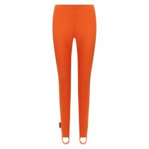 Леггинсы со штрипками Dsquared2. Цвет: оранжевый