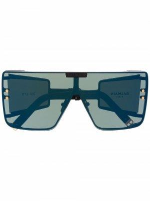 Солнцезащитные очки Wonder Boy в массивной оправе Balmain Eyewear. Цвет: черный