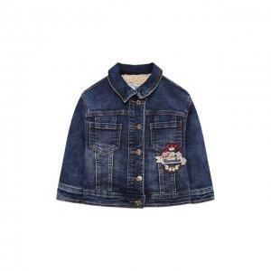 Джинсовая куртка Monnalisa. Цвет: синий