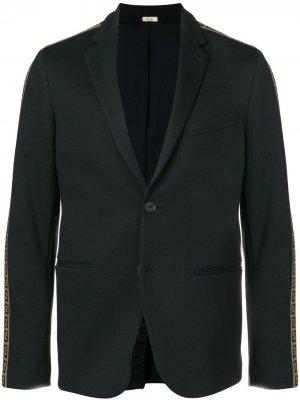 Embellished fitted blazer Fendi. Цвет: черный