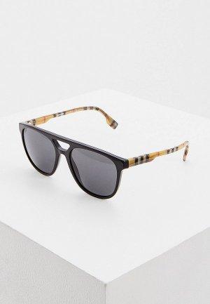 Очки солнцезащитные Burberry 0BE4302 300187. Цвет: черный