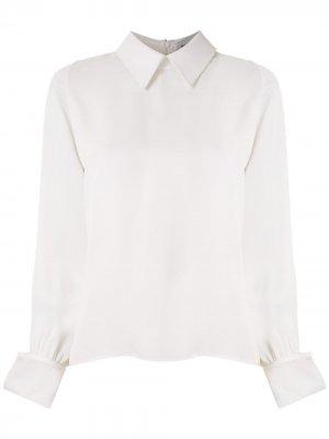 Рубашка с заостренным воротником Gloria Coelho. Цвет: белый