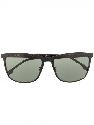 Солнцезащитные очки 1291/F/S в прямоугольной оправе BOSS. Цвет: черный