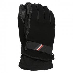 Утепленные перчатки Moncler Grenoble. Цвет: чёрный