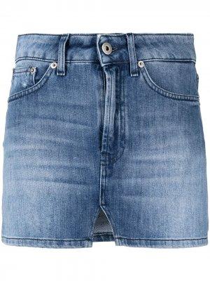 Джинсовая юбка мини Dondup. Цвет: синий