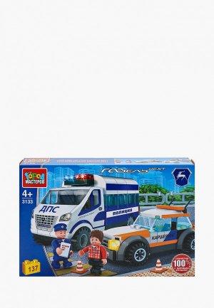 Конструктор Город Мастеров Полицейская Газель и машина каршеринга, 137 деталей. Цвет: разноцветный
