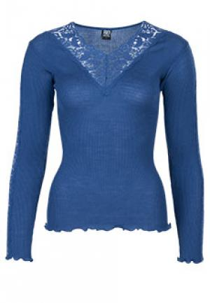 Блуза BONA DEA. Цвет: голубой