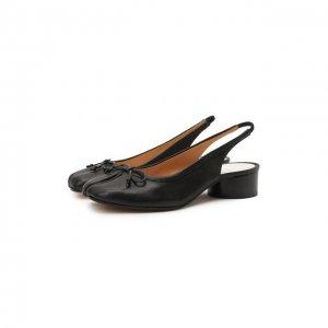 Кожаные туфли Tabi Maison Margiela. Цвет: чёрный