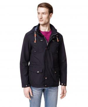 Куртка - ветровка HAYAS. Цвет: синий