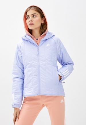 Куртка утепленная adidas W ITAVIC L HO J. Цвет: фиолетовый