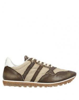 Низкие кеды и кроссовки ALBERTO FASCIANI. Цвет: темно-коричневый