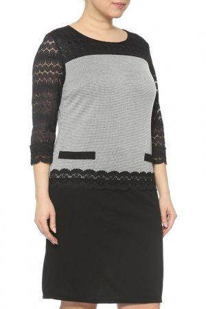 Платье CREDO. Цвет: черный